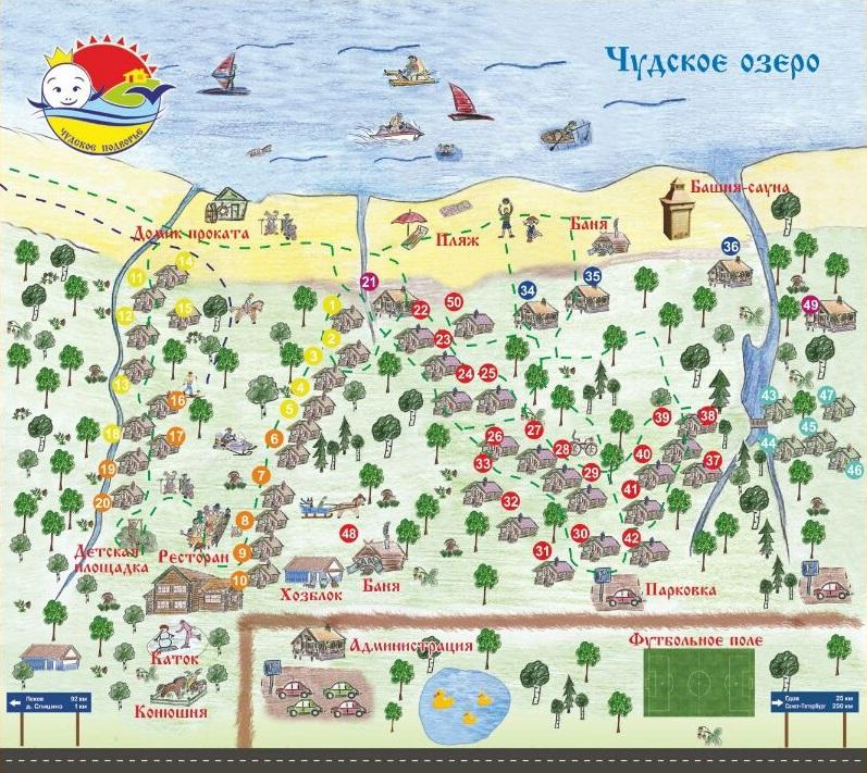 Загородная база отдыха в Ленинградской области на Чудском озере